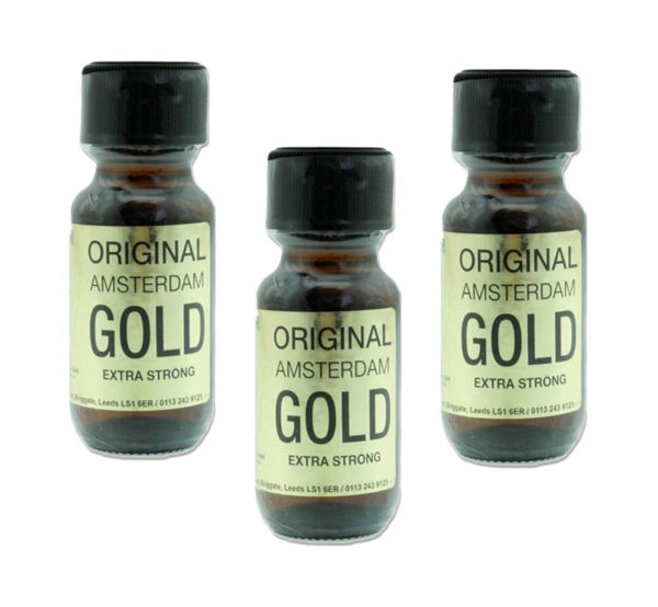 Original Amsterdam Gold Poppers 3 Bottle Multi Pack