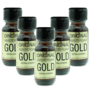 Original Amsterdam Gold Poppers 5 Bottle Multi Pack