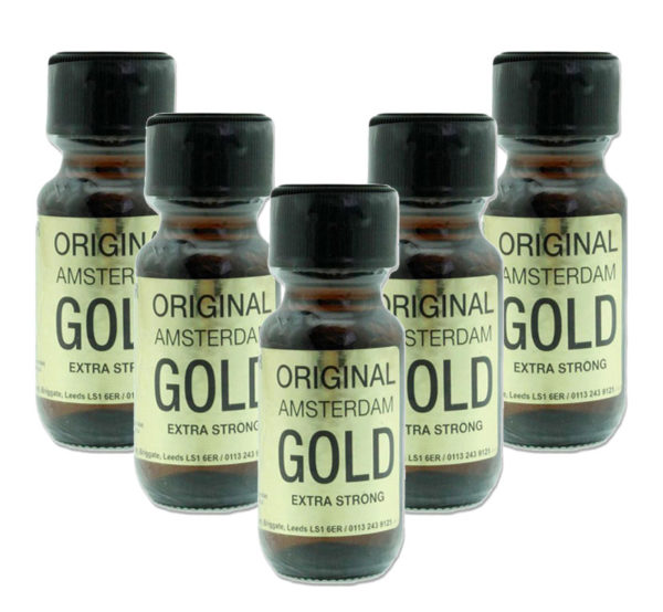 Original Amsterdam Gold Poppers 5 Bottle Multi Pack